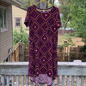 GUC Lularoe Carly size L elephants